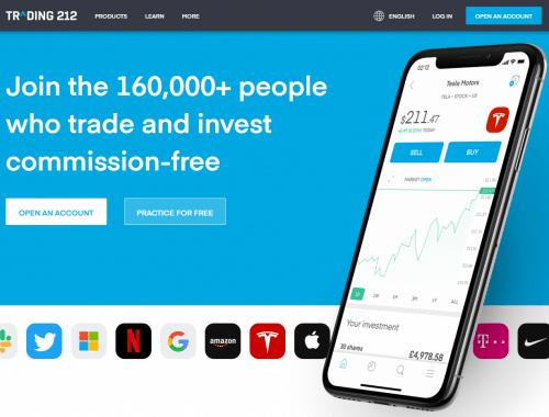 Trader débutant Trading 212